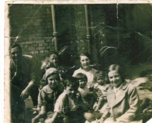 Paddy & Mrs.Duggan with Mrs. Pollock and families.c.1932.